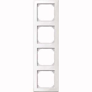 merten 478419 m smart rahmen 4fach polarweiss gl nzend polarweiss gl nzend m smart. Black Bedroom Furniture Sets. Home Design Ideas