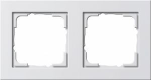 Gira 021229 Reinweiß glänzend Rahmen E2 2fach