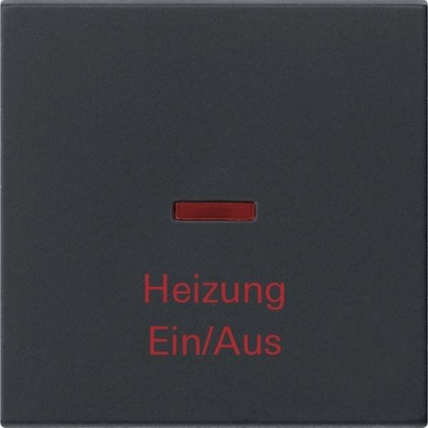 Gira 0678005 System 55 Kontrollwippe und Aufdruck Heizung Ein Aus Schwarz matt