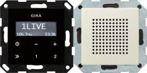 GIRA 228001 Unterputz-Radio RDS mit 1 Lautsprecher Cremeweiß glänzend
