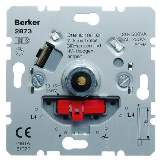 Berker 2873 Einsatz Drehdimmer NV HV-LED mit Softrastung