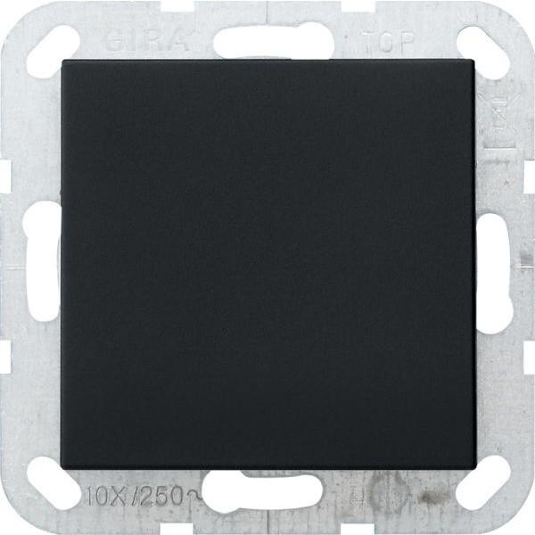 Gira 0268005 System 55 Blindabdeckung mit Tragring Schwarz matt