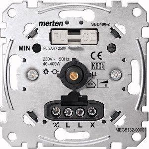 MERTEN MEG5132-0000 Drehdimmer-Einsatz mit Druck-Wechselschalter