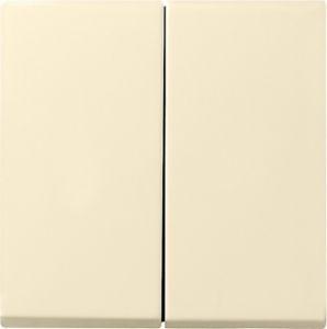 GIRA 231501 Serien-Tastdimmer Abdeckung Cremeweiß glänzend