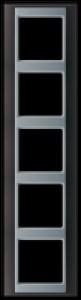 Jung Abdeckrahmen 5-fach AP 585 ANT AL anthrazit-aluminium