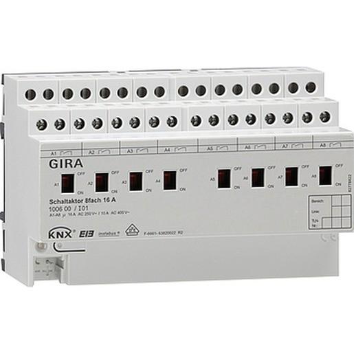 Gira 100600 KNX EIB Schaltaktor 8fach 16A
