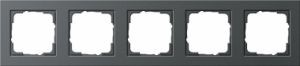 Gira 021523 Anthrazit Rahmen E2 5fach