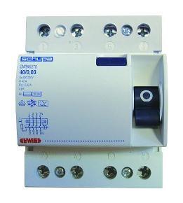 Gewiss Fehlerstrom-Schutzschalter Fehlerstrom-Schutzschalter (RCCB) 40/0.03A Typ A 4P 4TE