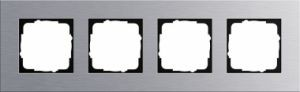 GIRA 021417 Esprit Abdeckrahmen Aluminium 4-fach