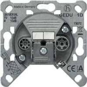 Jung GEDU15 Antennendose 2-Loch. Durchgangsdose