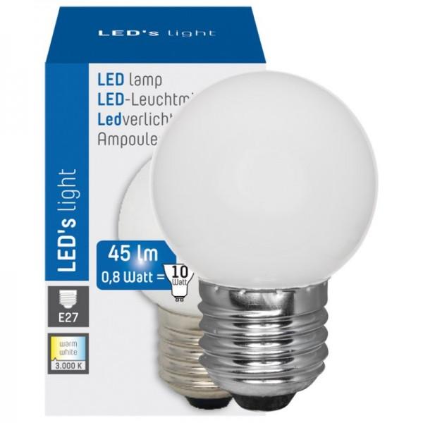 Shada LED-Lampe, Tropfen, E27/0,8W, satiniert, 45 lm, 3000K, L 69, Ø 45