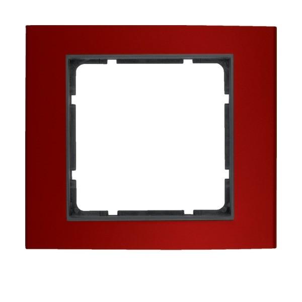Berker 10113012 B.3 Rahmen 1-fach Alu rot/anthrazit
