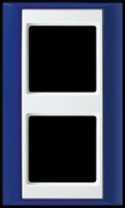 Jung Abdeckrahmen 2-fach AP 582 BL WW blau-alpinweiß