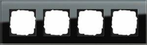 GIRA 021405 Esprit Abdeckrahmen Schwarz Glas 4-fach