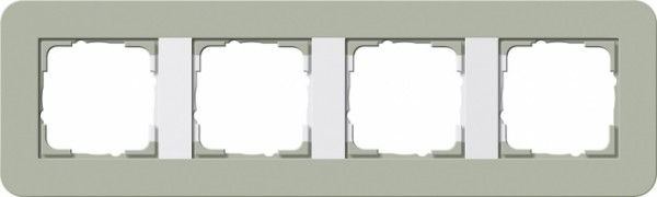 GIRA 0214415 Abdeckrahmen E3 Graugrün/Reinweiß 4-fach