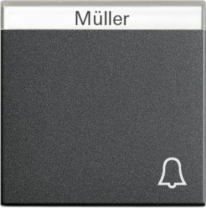 Gira 067328 Wippe mit Symbol Klingel und Beschriftungsfeld fuer Wipptaster Anthrazit