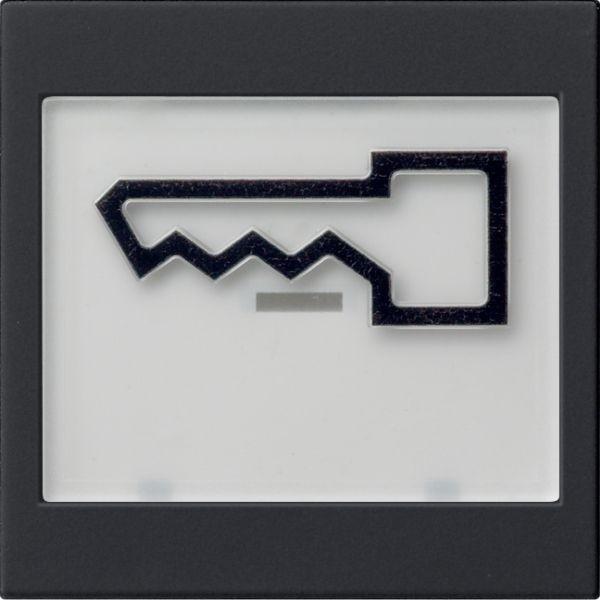 Gira 0218005 System 55 Wippe mit großem Beschriftungsfeld und großem abtastbaren Symbol Tür Schwarz