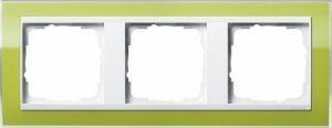 GIRA 0213743 Abdeckrahmen Event Klar Grün 3-fach