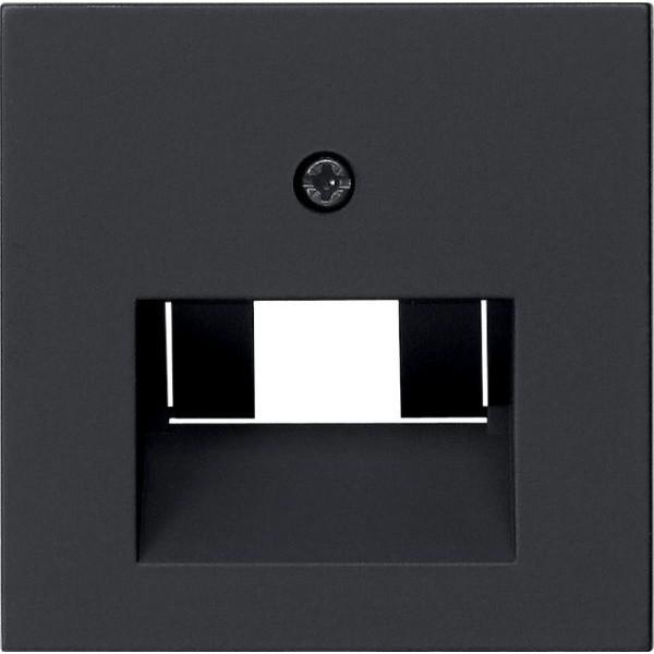 Gira 0270005 System 55 Abdeckung für UAE IAE (ISDN)-und Netzwerk-Anschlussdose Schwarz matt
