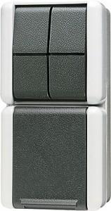 JUNG 875W SCHUKO-Steckdose mit Serienschalter