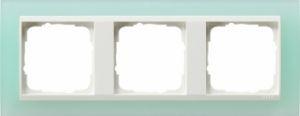 GIRA 0213395 Abdeckrahmen Event Opak Mint 3-fach