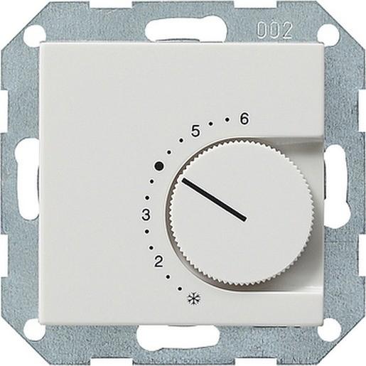Gira 039103 System 55 Raumtemperaturregler 24V 4A mit Öffner Reinweiß glänzend