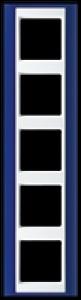 Jung Rahmen 5-fach AP585BLWW A plus blau-alpinweiß