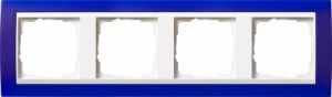 GIRA 0214399 Abdeckrahmen Event Opak Blau 4-fach