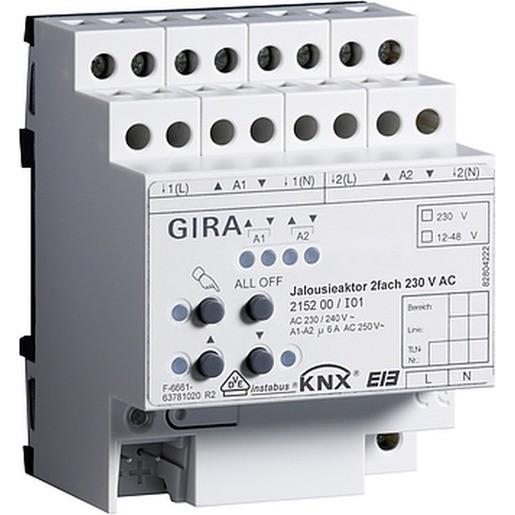 Gira 215200 Jalousieaktor 2fach 230V AC KNX/EIB REG