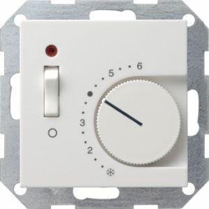 Gira039203 Raumtemperatur Regler komplett mit Öffner und Kontrolllampe. Reinweiß glänzend