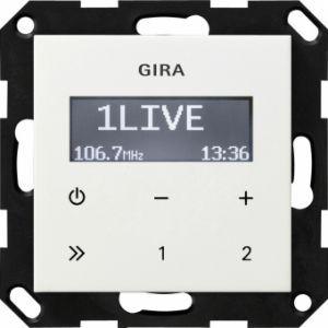 GIRA 228403 Unterputz-Radio RDS Reinweiß glänzend