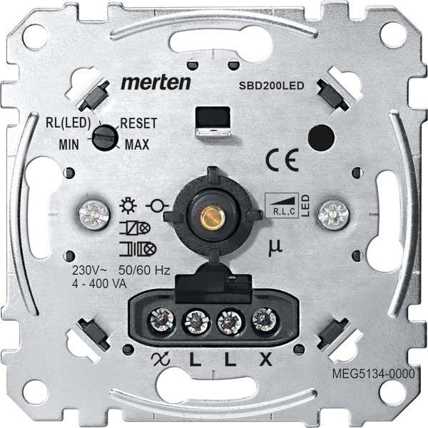 MERTEN MEG5134-0000 Universal Drehdimmer Einsatz für LED-Lampen