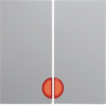 Berker 16271909 Serienwippe rote Linse polarweiß matt