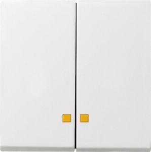 Gira 063103 Serienwippen mit Kontroll-Fe nster für Serien-Kontrollschalter Reinweiß glänzend