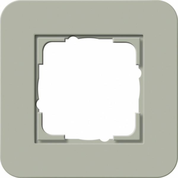 GIRA 0211415 Abdeckrahmen E3 Graugrün/Reinweiß 1-fach