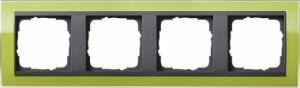 GIRA 0214748 Abdeckrahmen Event Klar Grün 4-fach