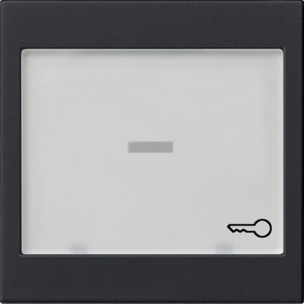 Gira 0676005 System 55 Wippe mit großem Beschriftungsfeld Schwarz matt