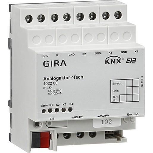 Gira 102200 KNX EIB Analogaktor 4fach