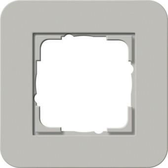 GIRA 0211412 Abdeckrahmen E3 Grau/Reinweiß 1-fach