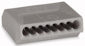 WAGO 273-108 Verbindungsdosenklemmen 8 x 0,75 - 1,5 qmm Grau