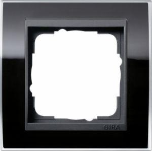 GIRA 0211738 Abdeckrahmen Event Klar Schwarz 1-fach