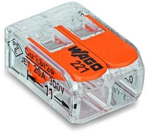 WAGO 221-412 COMPACT-Verbindungsklemme 100 Stück