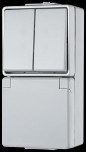 Jung Schuko-Steckdose 675W mit Serienschalter