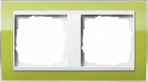 GIRA 0212743 Abdeckrahmen Event Klar Grün 2-fach