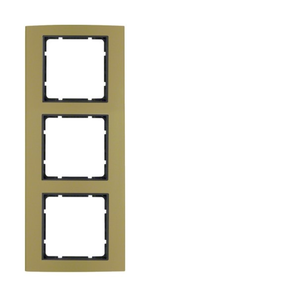 Berker 10133016 B.3 Rahmen 3-fach Alu gold/anthrazit