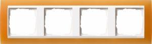 GIRA 0214397 Abdeckrahmen Event Opak Orange 4-fach