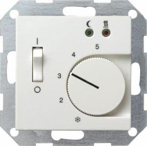 Gira 039403 Raumtemperatur Regler für elektrische Fussbodenheizung mit Sensor Reinweiß glänzend