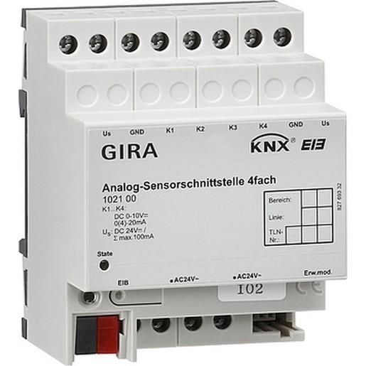 Gira 102100 KNX EIB Sensorschnittstelle Analog 4fach