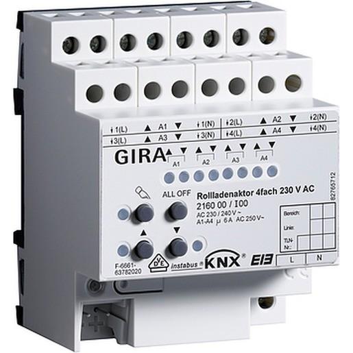 Gira 216000 Rollladenaktor KNX/EIB 4fach 230V REG