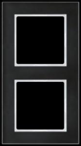 JUNG AC582GLSW A creation Glasrahmen, schwarz 2fach